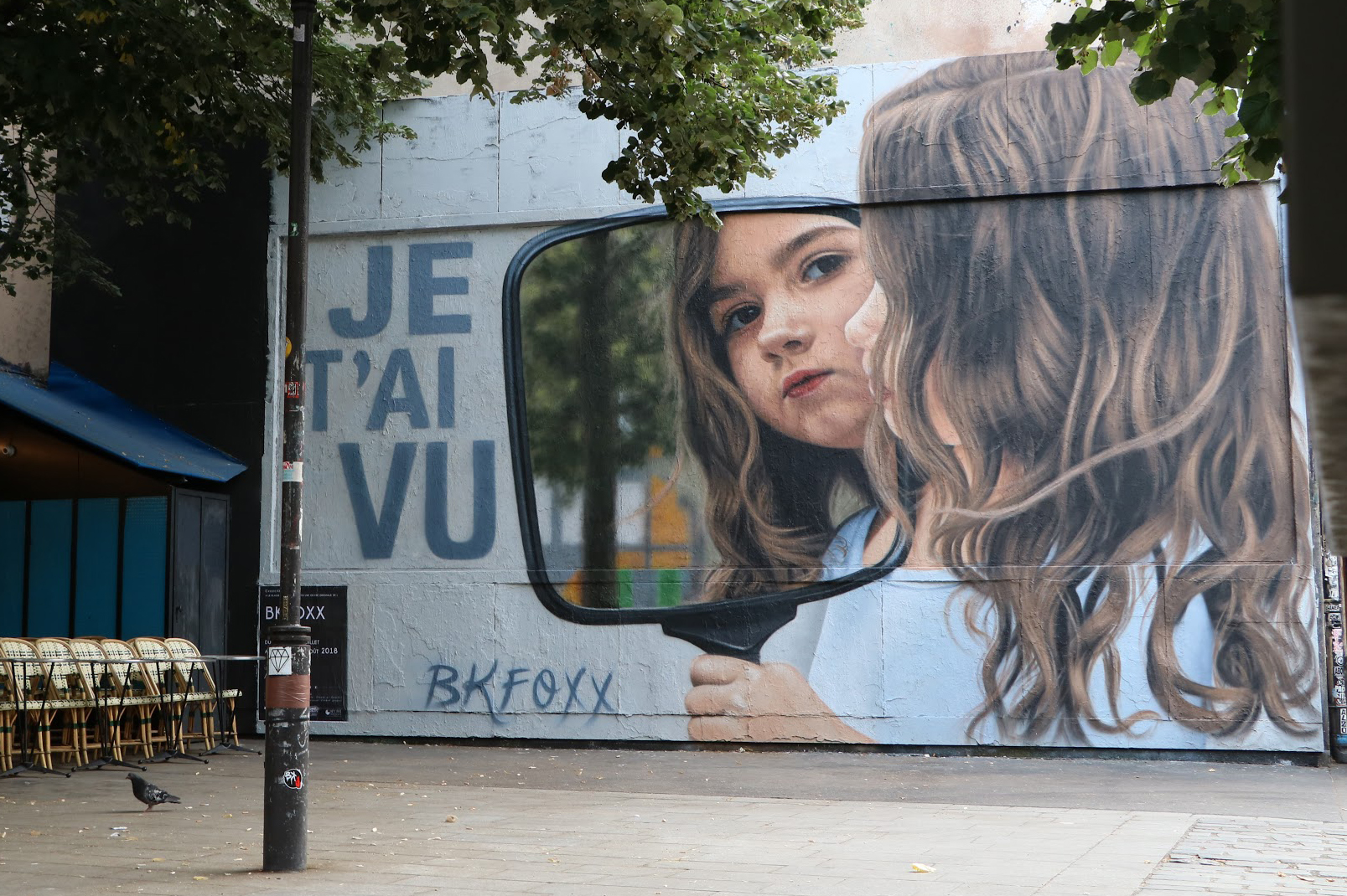 <b>Je Sais Que Tu Sais (Je T'ai Vu)<br>I Know You Know (I Saw You)</b><br>Paris, France<br>with Le Mur Oberkampf, July 2018<br>photo by Virginie Favard