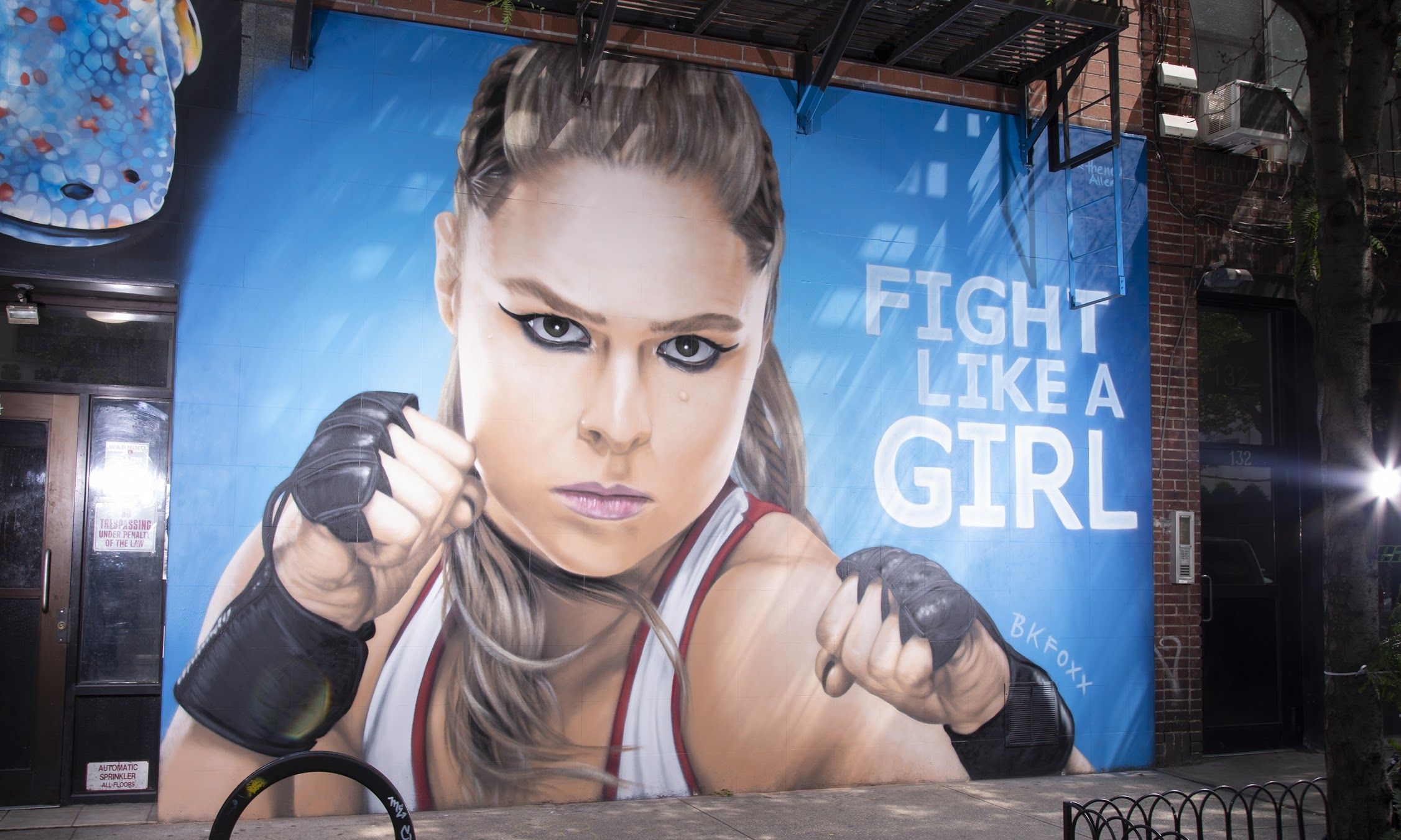 <b>portrait of Ronda Rousey</b><br>Lower East Side, NYC<br>with the WWE, Christine Reilly, and the New Allen, Aug 2018<br>photo by Kareem Black